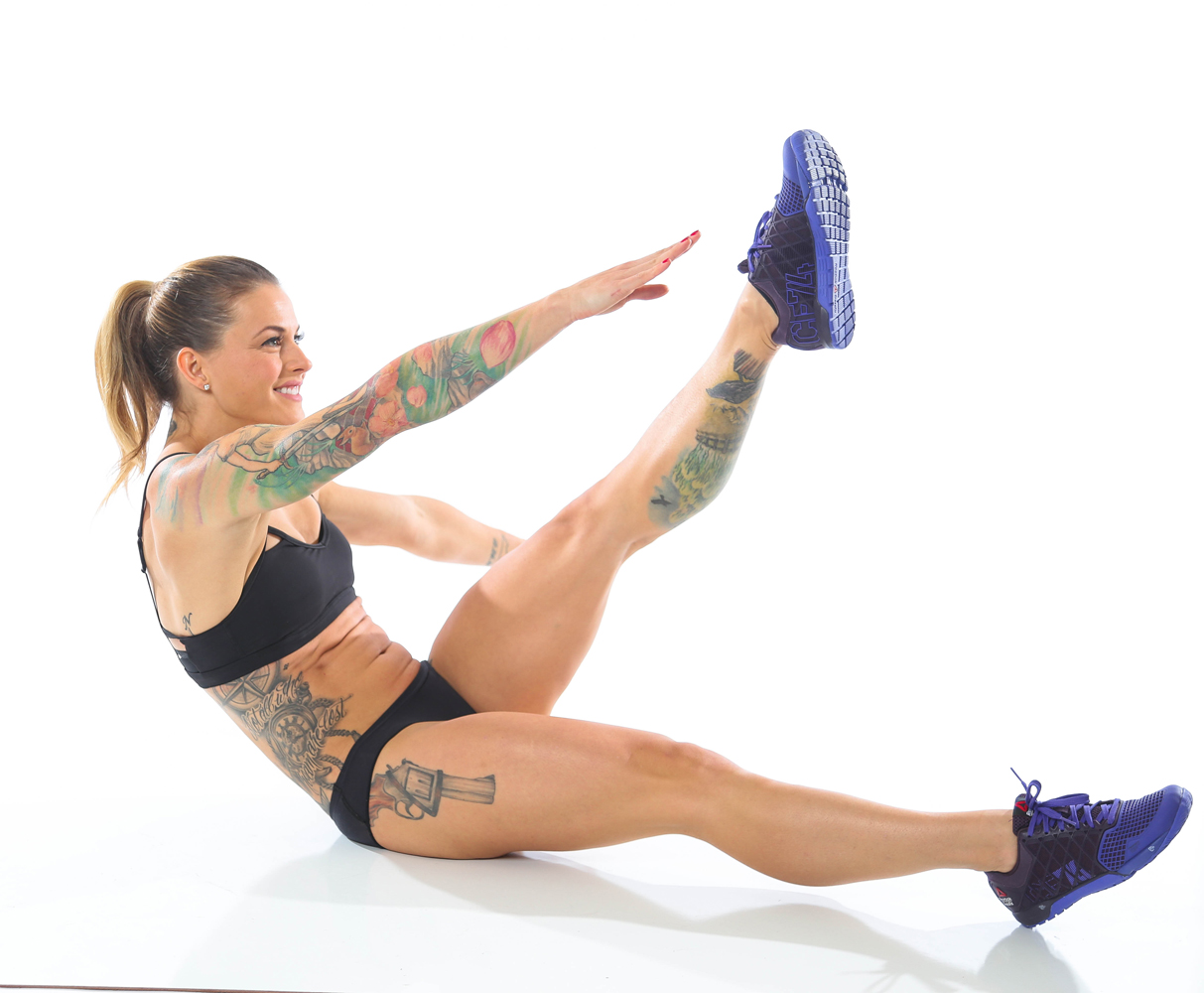 From The Badass Body Diet, by Christmas Abbott: Single Leg Toe Touch, Part 3