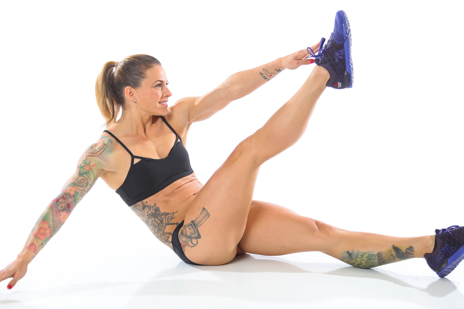 From The Badass Body Diet, by Christmas Abbott: Single Leg Toe Touch, Part 2