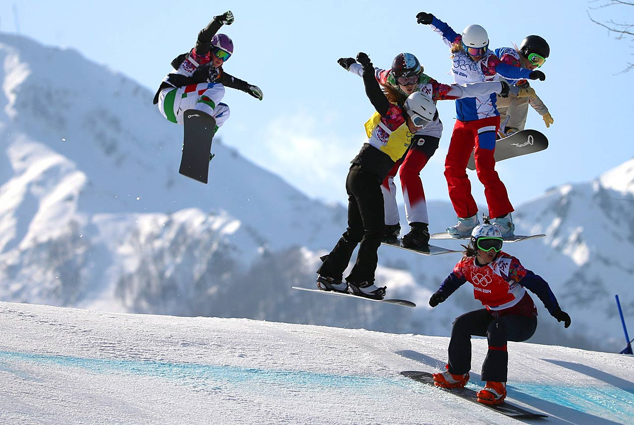 The women's snowboard cross was one of Sunday's medal events. Eva Samkova of the Czech Republic won the gold.