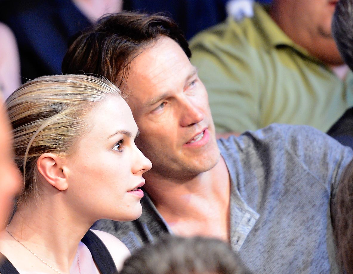 Anna Paquin and Stephen Moyer attend Manny Pacquiao v Timothy Bradley.