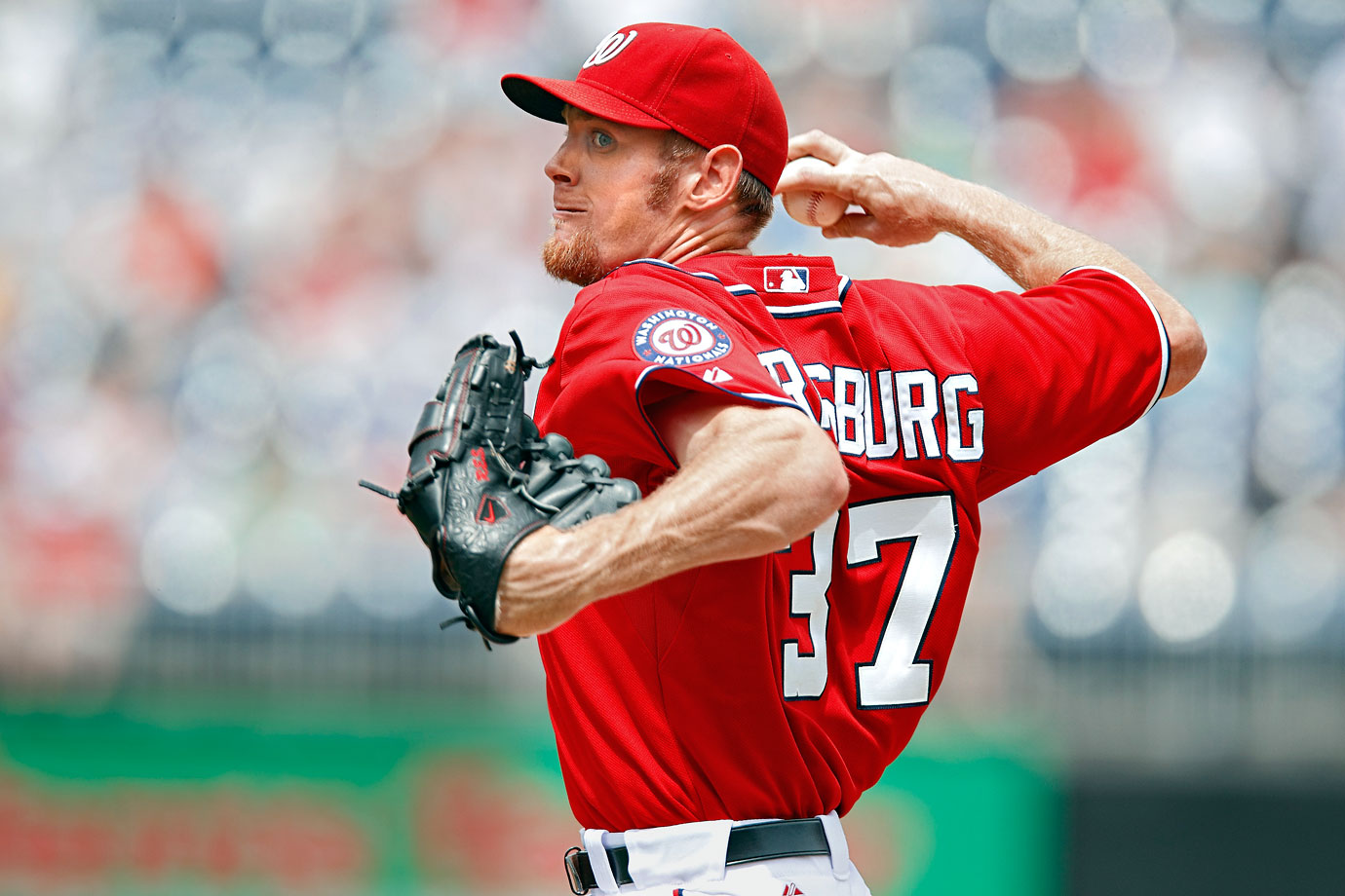 Flame-throwing prodigy Stephen Strasburg lived up to his billing in 2010. In 12 major league starts, the No. 1 overall pick in the 2009 draft had a 2.91 ERA and tallied 92 strikeouts in only 68 innings. But in a start in late August against the Phillies, Strasburg was abruptly removed with a serious elbow injury that required Tommy John surgery in September. He sat out nearly the entire 2011 season before returning strong, finishing 15-6 but somewhat controversially shut down before Washington's appearance in the 2012 postseason. Stras fanned 242 batters in 2014.