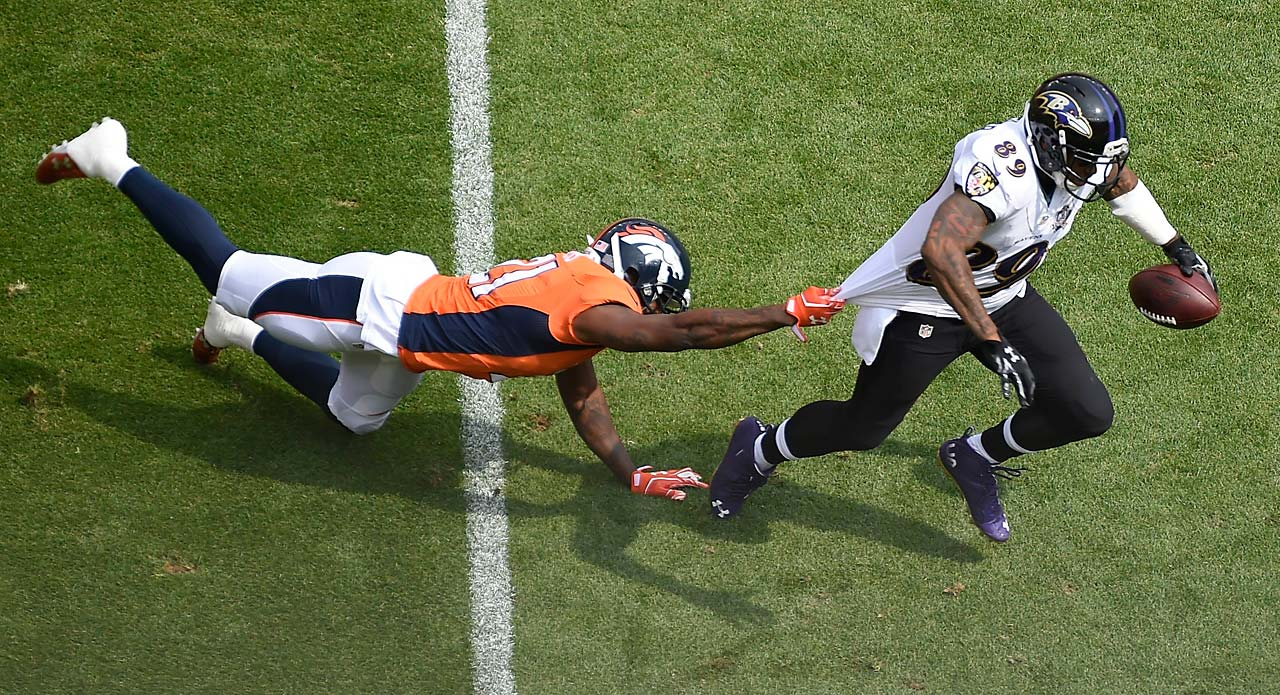 Steve Smith couldn't get away from a tough Denver defense during a Week 1 loss.