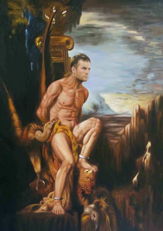 Tom Brady in 'Prometheus' by Gustave Moreau, 1868