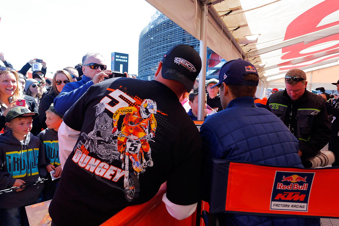 Dungey at an autograph session with fans.