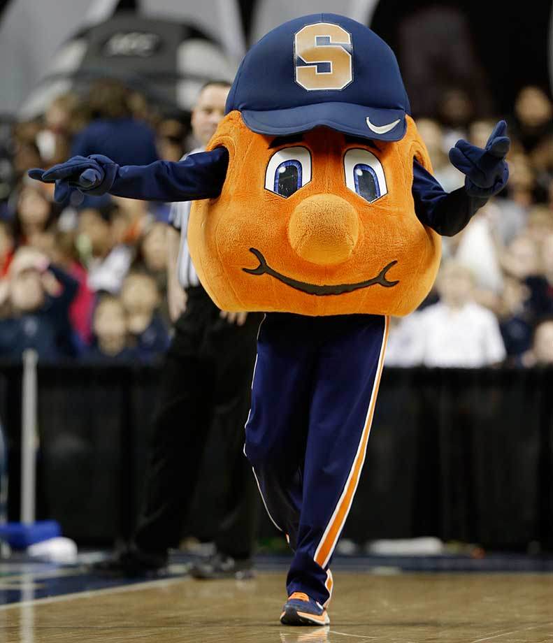No. 12: The Syracuse Orange is pretty self-explanatory—a big, furry orange. Otto sports a Syracuse hat, and a dimpled smile, at all times. The orange is a tough mascot to mess up in design, and while Otto isn't particularly fearsome, Syracuse has a good one.