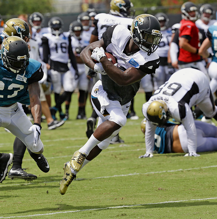 Don't sleep on what Denard Robinson did when he was handed the reins in Jacksonville's backfield last year. In his first four games as the starter, he ran for 489 yards and four touchdowns on 72 carries, scoring at least 11.8 fantasy points in each of those contests. Even if Yeldon were to start, the Jaguars wouldn't cut Robinson completely out of the offense. This situation has timeshare written all over it, and it's entirely possible that Robinson would be the leader in that split. Yeldon's current 50.9 ADP, which makes him the 24th back off the board in a typical draft and has him ahead of the likes of Rashad Jennings, LeGarrette Blount, Golden Tate and DeSean Jackson, is simply far too high.