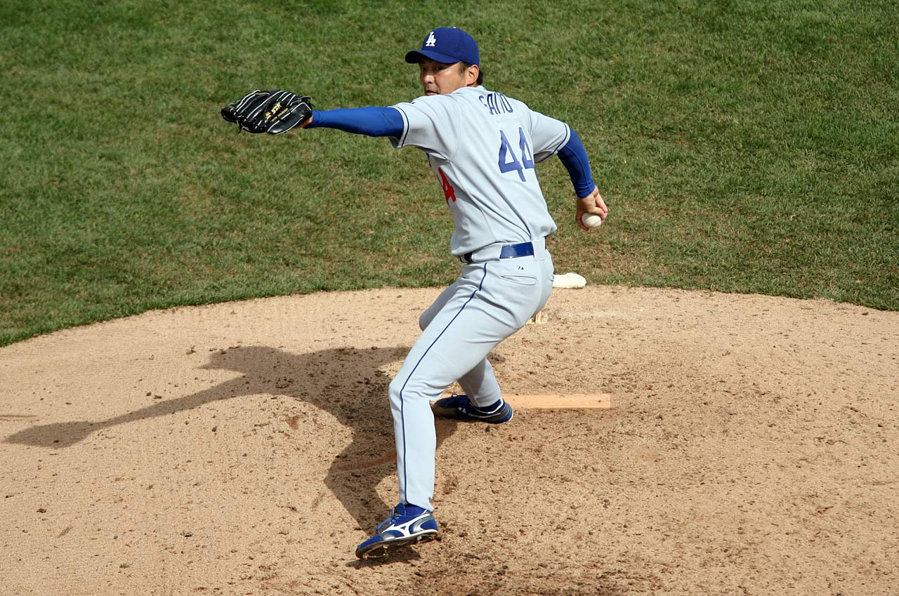 The Dodgers found a golden oldie in Saito, who as a 36-year-old rookie led the team in saves with 24 in 2006. In his first six MLB seasons, playing for four teams, he posted a 2.18 ERA and made the NL All-Star team in 2007.