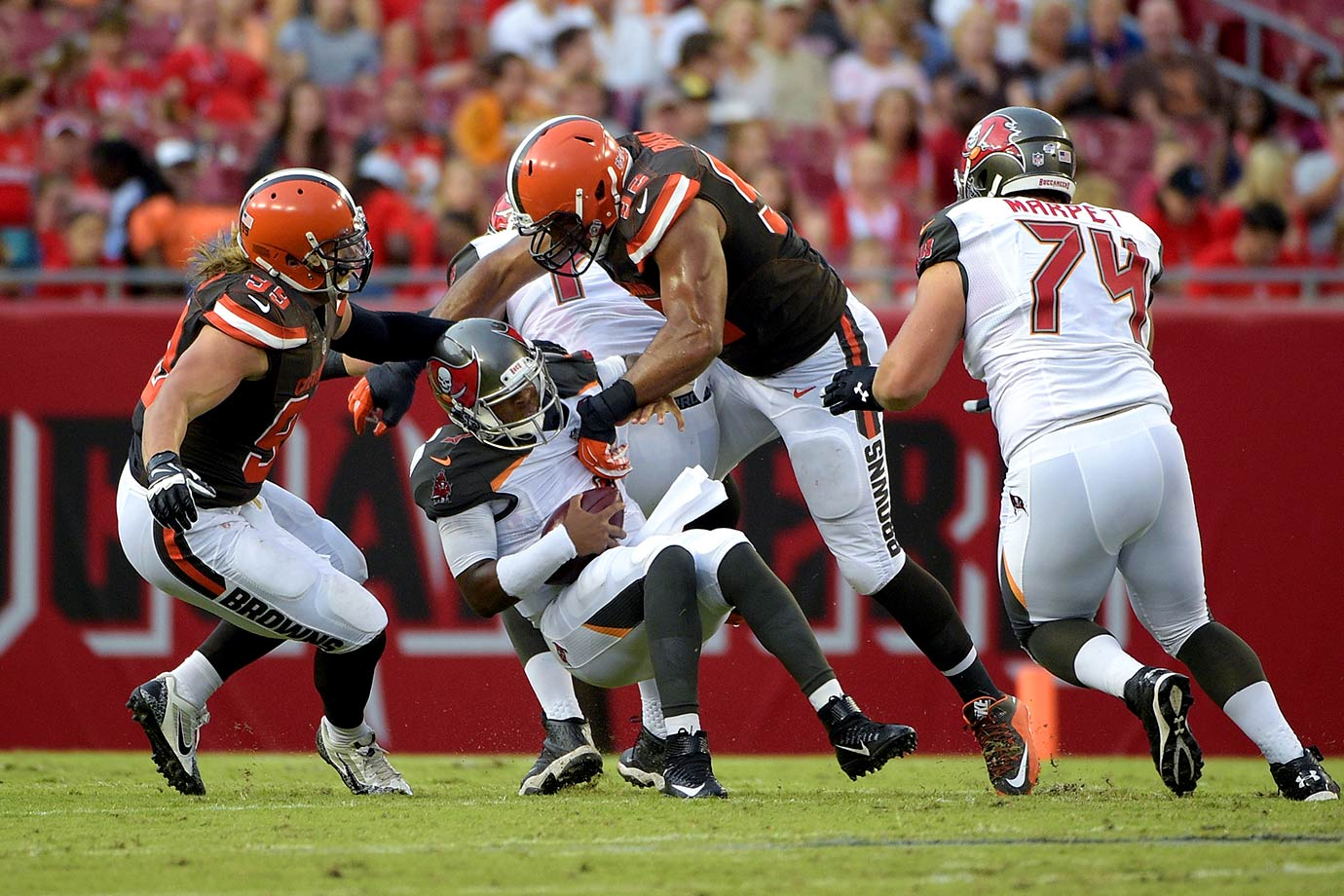 No doubt, this offense will be more dynamic with No. 1 overall pick Jameis Winston under center. But the Buccaneers offensive line allowed 3.25 sacks per game last season (30th in the NFL), and then starting right tackle Demar Dotson suffered a sprained MCL early in the preseason.