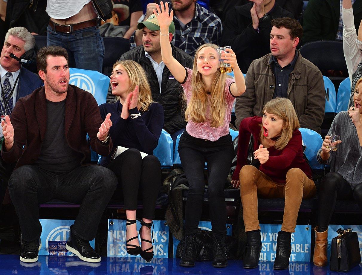 with Amanda Seyfried, Kate Upton and Justin Verlander