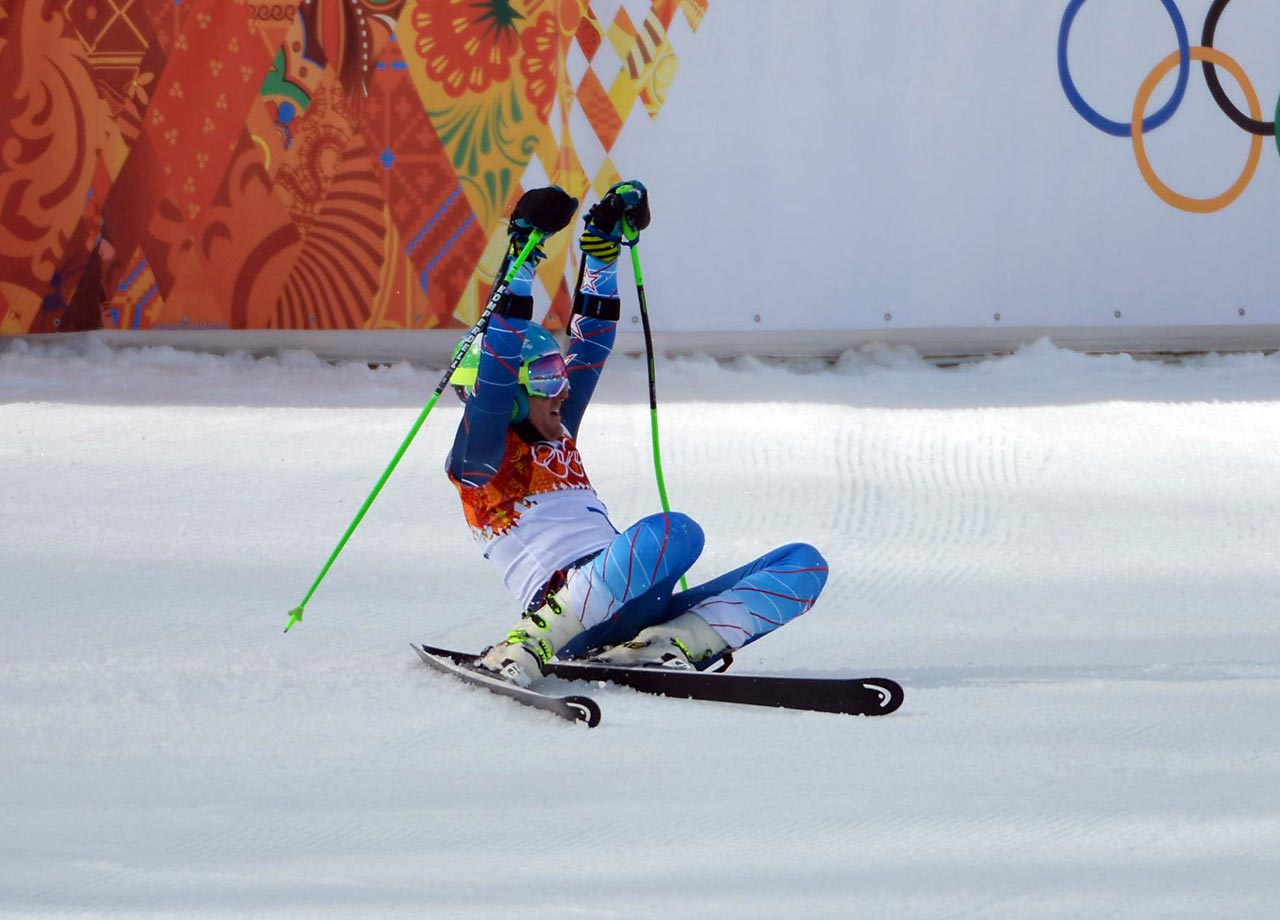Ted Ligety is the first American man to win two Olympic gold medals in Alpine skiing. His first gold was earned in the combined at the Turin Games in 2006.