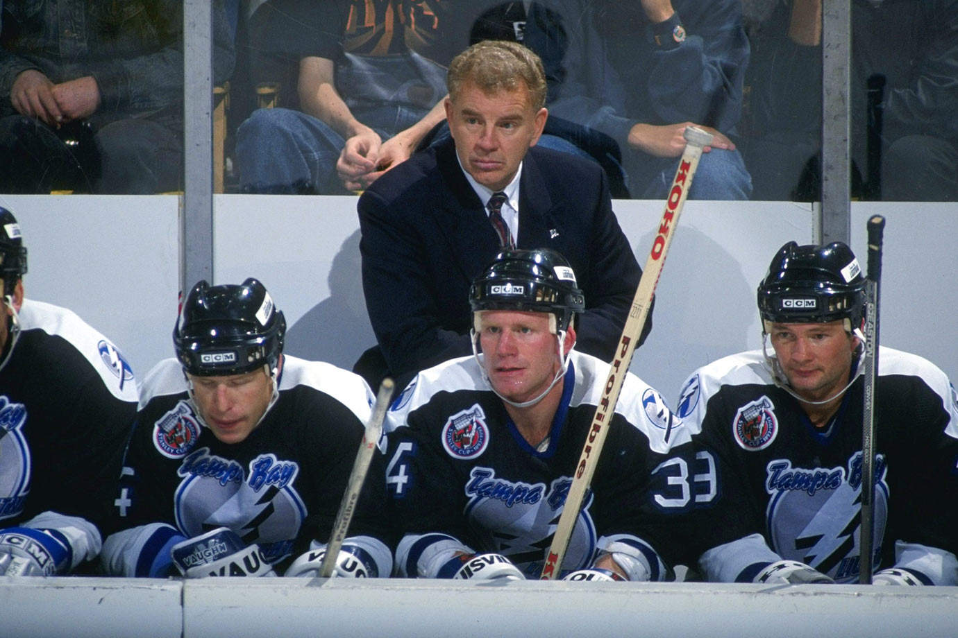"The Lightning's first coach came to Tampa from Calgary where he won the Stanley Cup in 1989. The volatile Crisp, who guided the expansion Bolts to a 23-54-7 mark in their first season and an overall 142-204-45 during his five-plus campaigns behind their bench, was known for blunt assessments such as this one after a 10-0 loss: ""The only difference between this and Custer's Last Stand was that Custer didn't have to look at the tape afterwards."""
