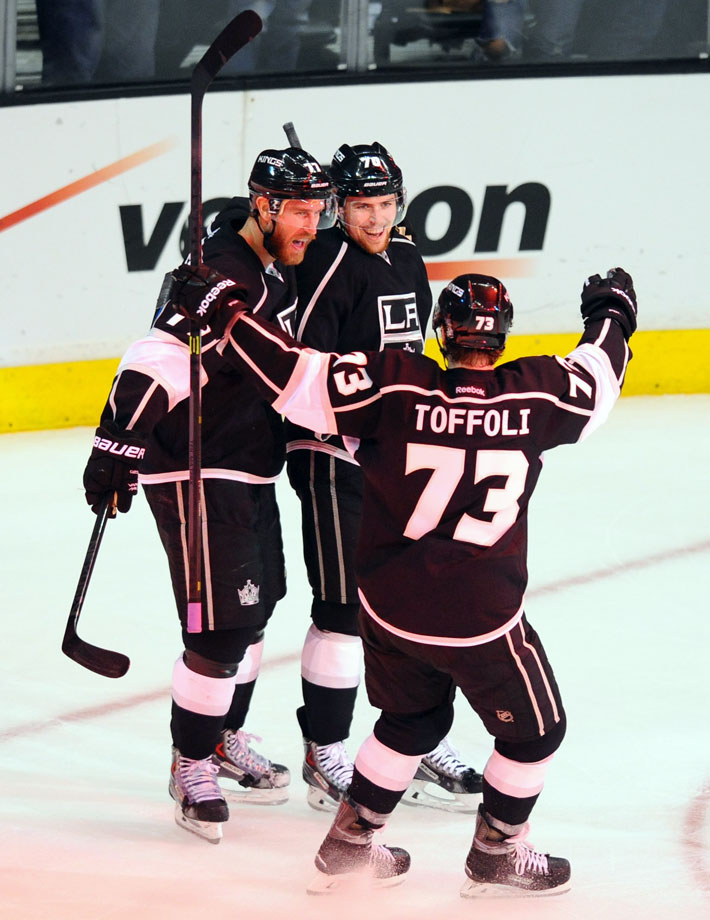 "Created during the Kings' run to the 2014 Stanley Cup and named for TV's popular sitcom ""That '70s Show"" and their uniform numbers, Tanner Pearson (70), Jeff Carter (77) and Tyler Toffoli (73) proved to be a speedy, hardworking and dangerous scoring unit. Youngsters Pearson and Toffoli were linemates in the AHL and teaming them with tenacious veteran Carter lit a spark. ""Usually on a line there's one guy who's the passer, one guy who's the shooter and one guy that is the digger, Kings player personnel director Michael Futa told NHL.com during the 2014-15 season. ""They all seem to be willing to dig for each other and they can shoot from anywhere."""