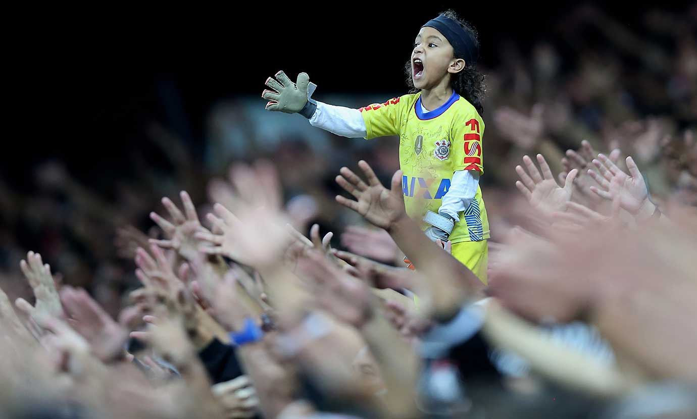 Here are some of the images that caught our eye on Wednesday, March 16, beginning with a fan of Corinthians celebrating during a match against Cerro Porteno in Sao Paulo, Brazil.