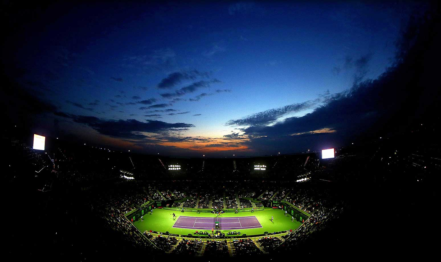 A general view of Stadium Court during Day 8 of the Miami Open.