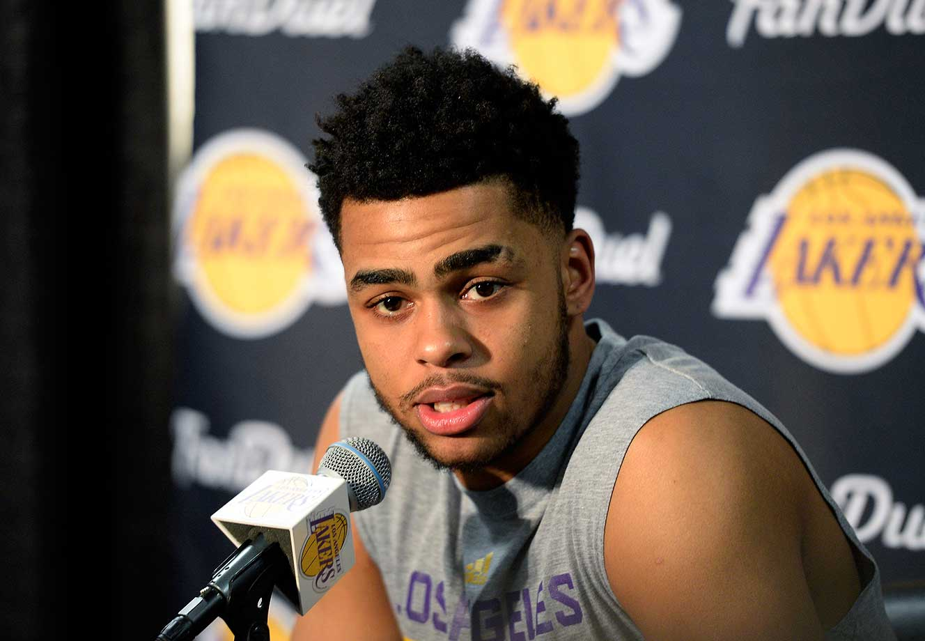 Here are some of the images that caught our eye on a day when the D'Angelo Russell controversy stole much of the spotlight, including his apology press conference.
