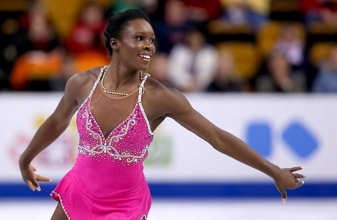 Mae Berenice Meite of France competes during Day 4 of the World Figure Skating Championships.