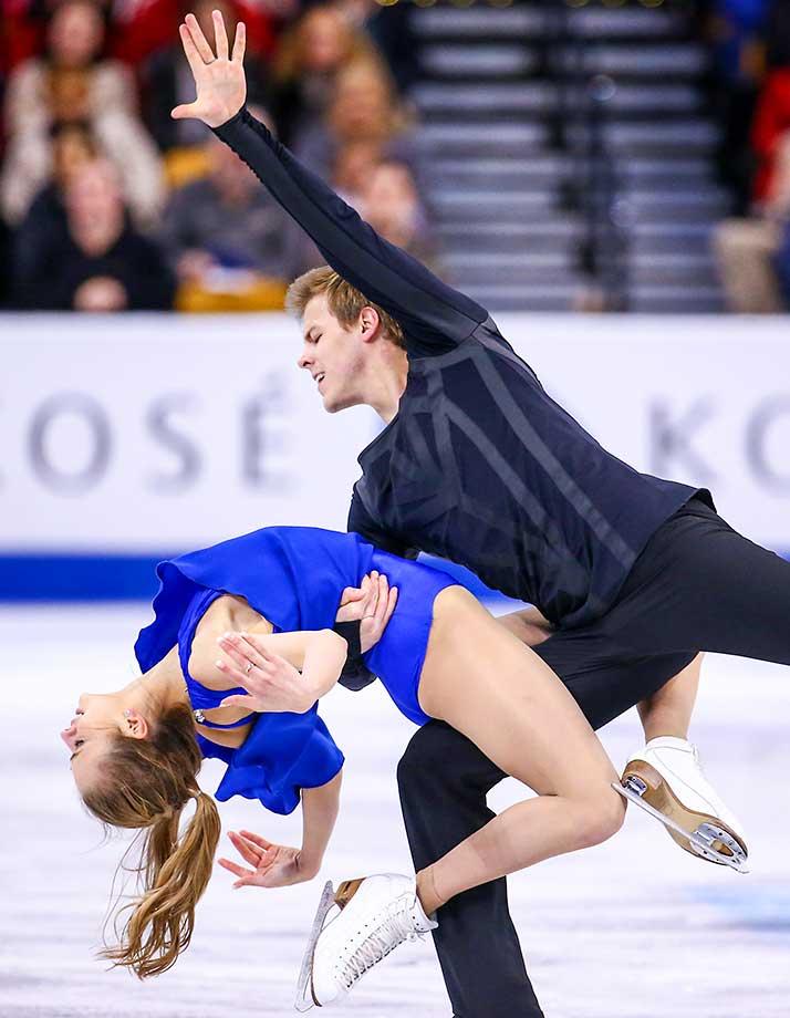 Victoria Sinitsina and Nikita Katsalapov of Russia.