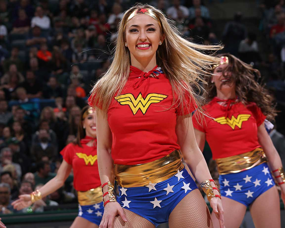 Dancers perform during the game between the New Orleans Pelicans and Milwaukee Bucks.