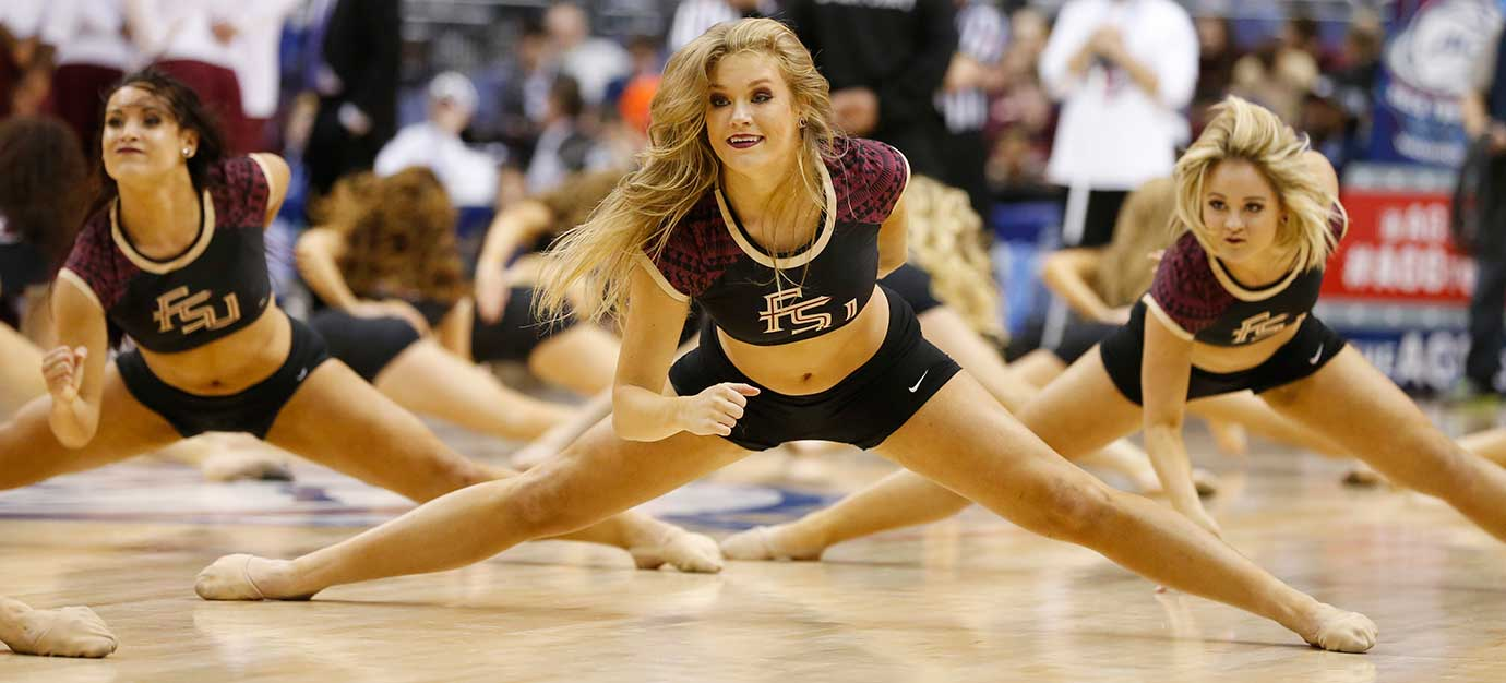 Florida State dancers perform at the Atlantic Coast Conference tournament.