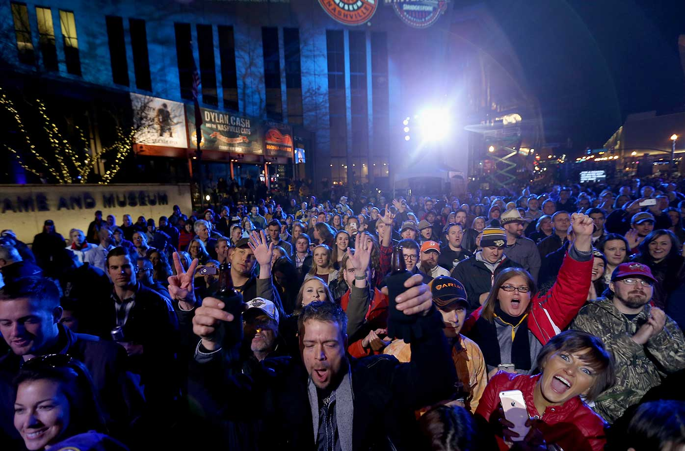 The crowd gathers for the 2016 NHL All-Star Friday Night at the Honda Stage at Bridgestone Winter Park in Nashville, Tenn.