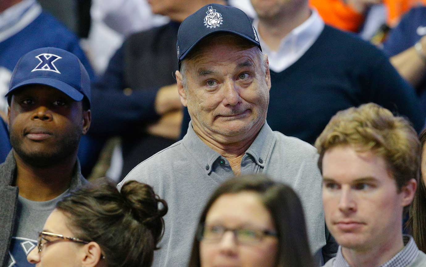 Here are some of the images that caught our eye on the sports night of Feb. 24, starting with actor Bill Murray watching Xavier knock off No. 1. Villanova in Cincinnati, 90-83.
