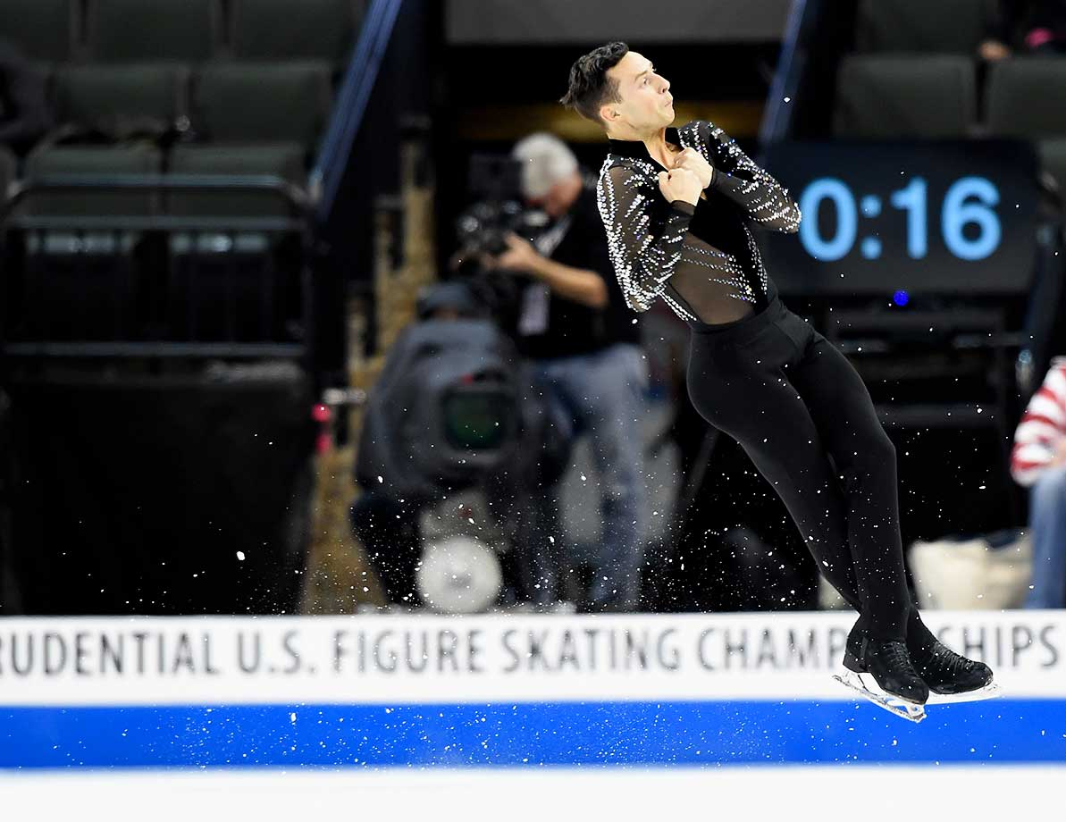 Adam Rippon competes in the Short Program at the 2016 Prudential U.S. Figure Skating Championship in St Paul, Minn.
