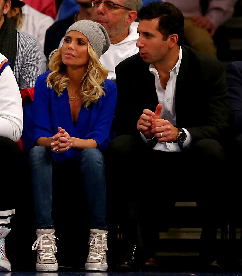 Kristin Chenoweth attends the game between the New York Knicks and the Oklahoma City Thunder at Madison Square Garden.