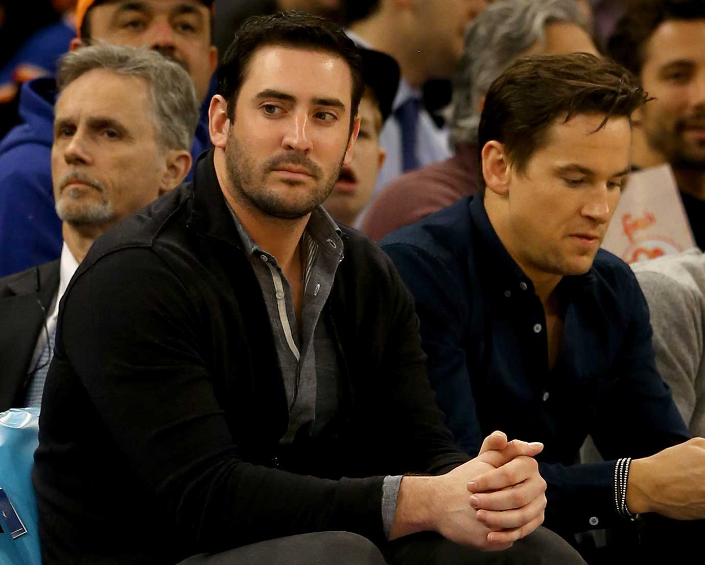 New York Mets pitcher Matt Harvey at the New York Knicks-Oklahoma City Thunder game.