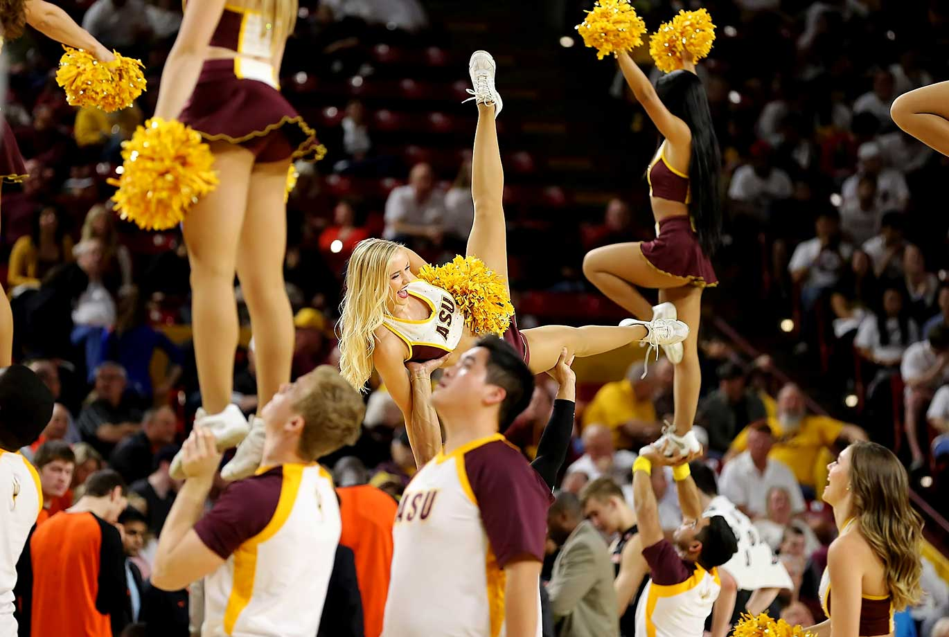 Arizona State cheerleaders perform