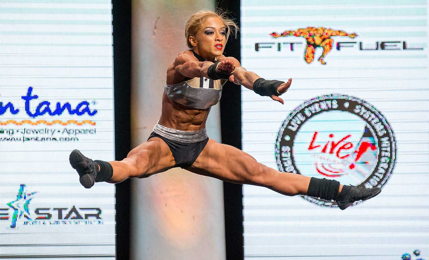 Susan Serrano competes in Columbus, Ohio, at the Arnold Amateur Bodybuilding, Fitness, Figure, Bikini and Physique Championships.