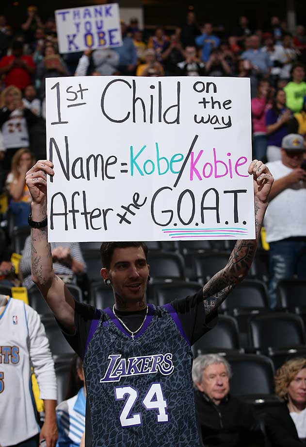 A father-to-be who considers Kobe Bryant the greatest of all time.