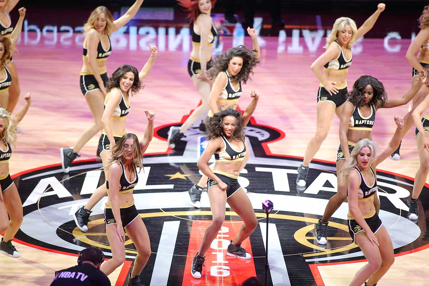 Dancers perform during the BBVA Compass Rising Stars Challenge as part of NBA All-Star Weekend.