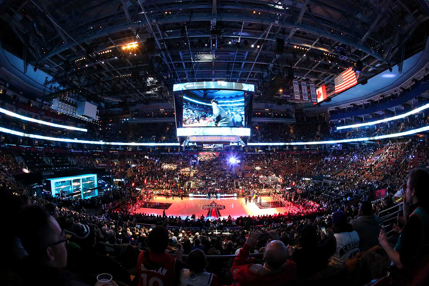 A general view of the BBVA Compass Rising Stars Challenge as part of NBA All-Star Weekend.