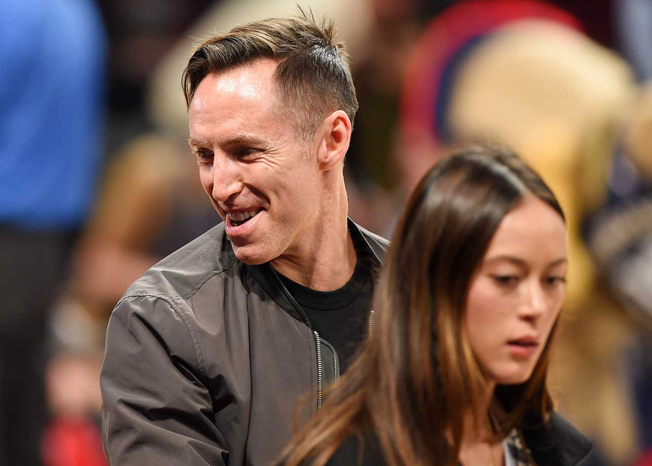 Retired NBA player Steve Nash and Alejandra Amarilla attend the 2016 NBA All-Star Game.