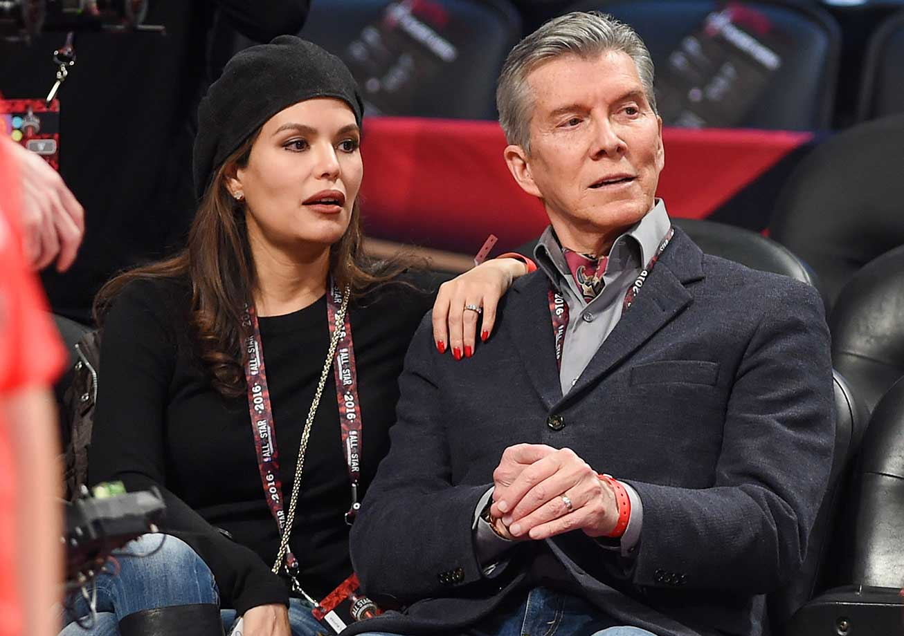 Christine Buffer and Ring Announcer Michael Buffer at the NBA All-Star Game.