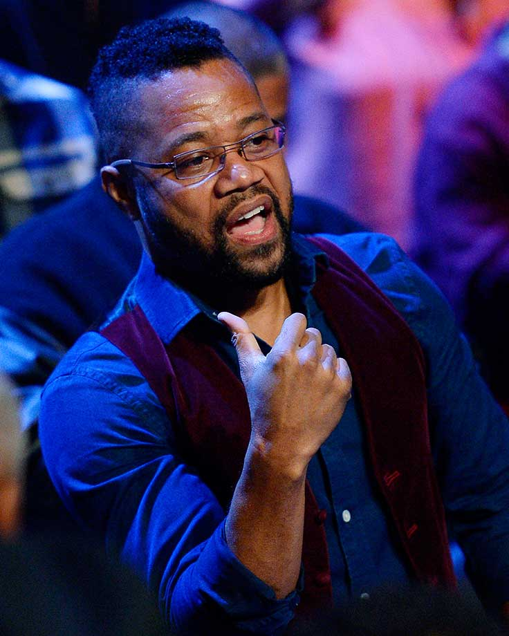 Cuba Gooding Jr. attends the Danny Garcia and Robert Guerrero WBC championship welterweight bout.