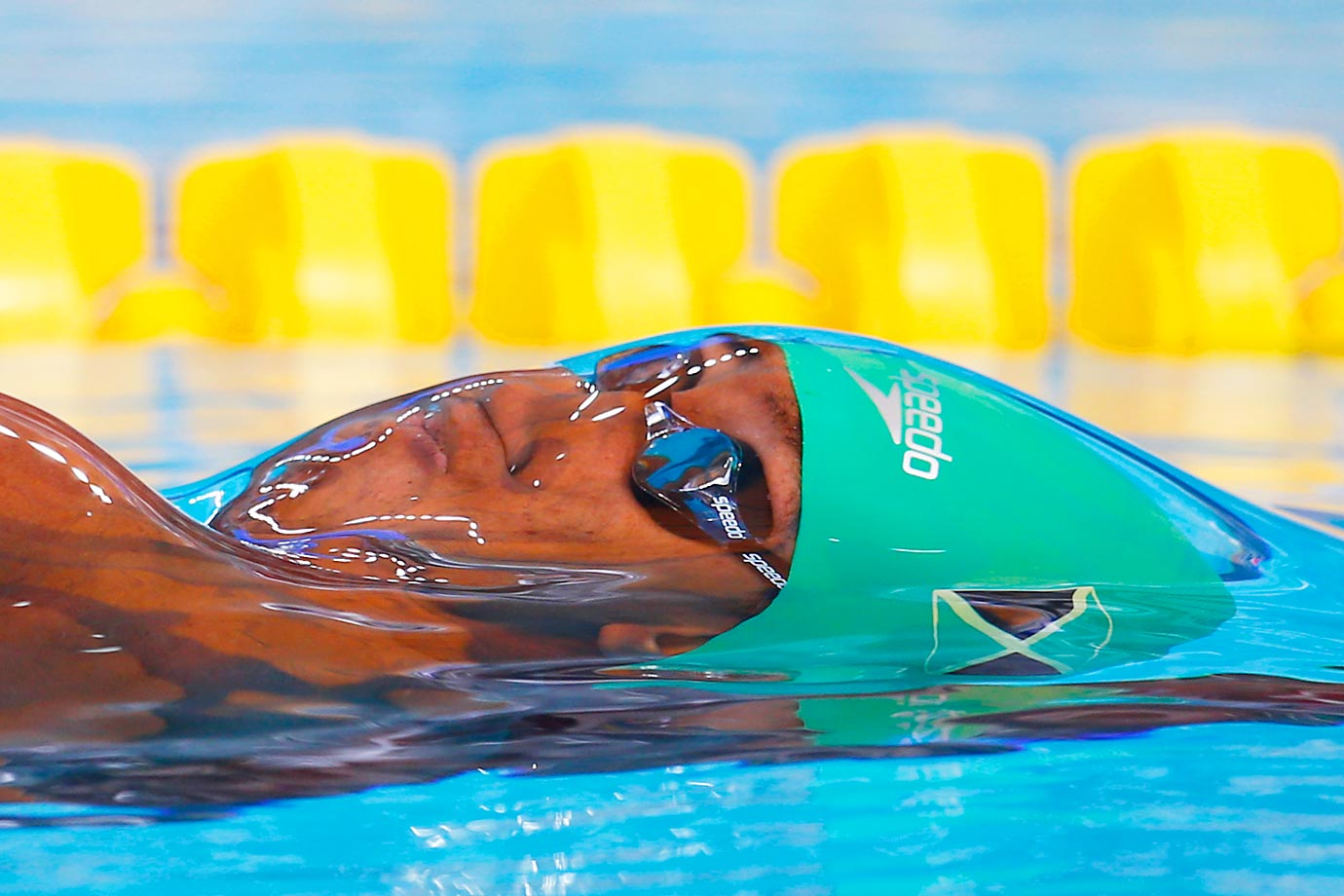 Timothy Wynter of Jamaica competes in the 100m backstroke at the FINA World Championships.