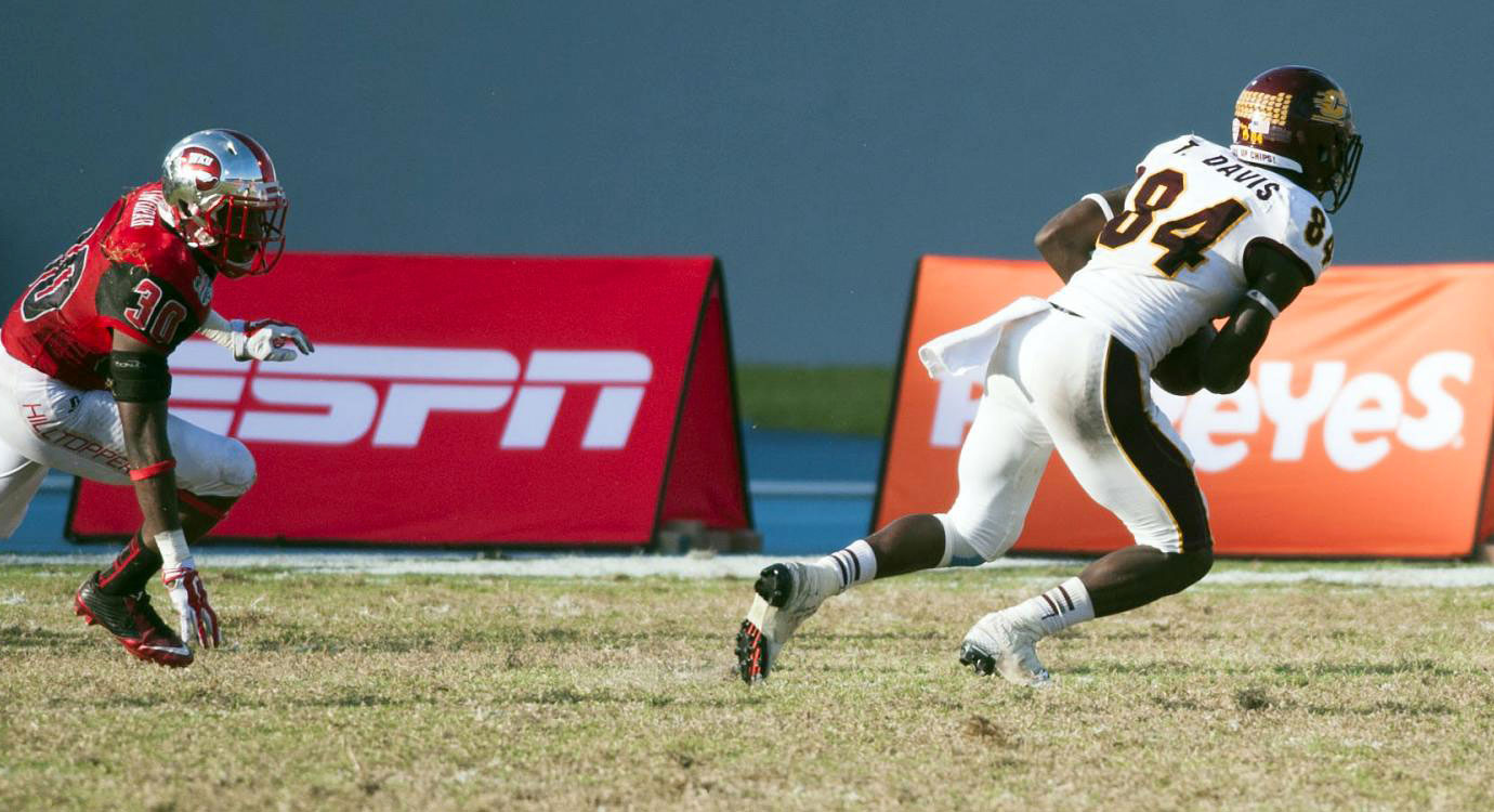 The senior had four scores in the Bahamas Bowl, including the most amazing TD of bowl season.