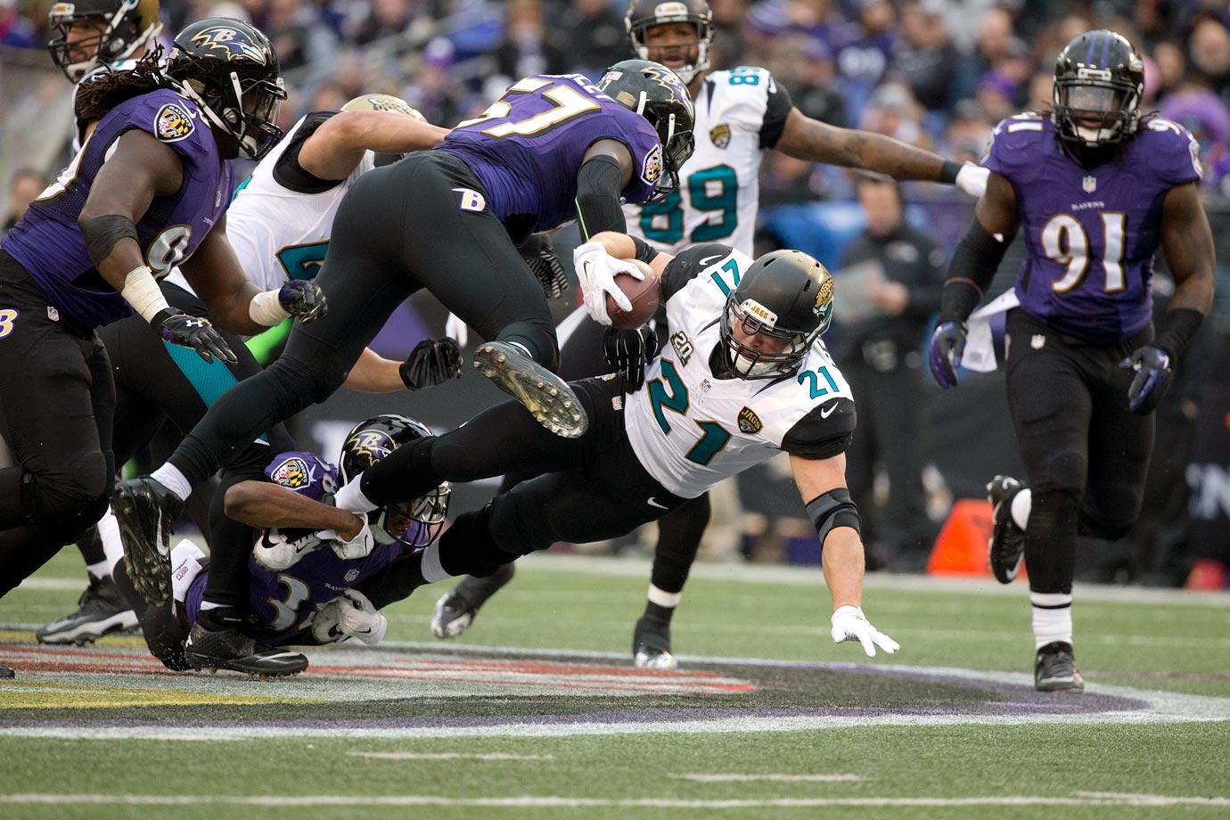 A former second-round pick, Toby Gerhart signed a three-year deal with Jacksonville worth $4.5 million in guaranteed money. But his relatively cheap contract couldn't make-up for an abysmal season for the Jaguars. Gerhart suited up for 14 games and yet seemed invisible on the field. He carried the ball 101 times for a paltry 3.2 yards per carry, and Jacksonville had one of the worst offenses in the league.