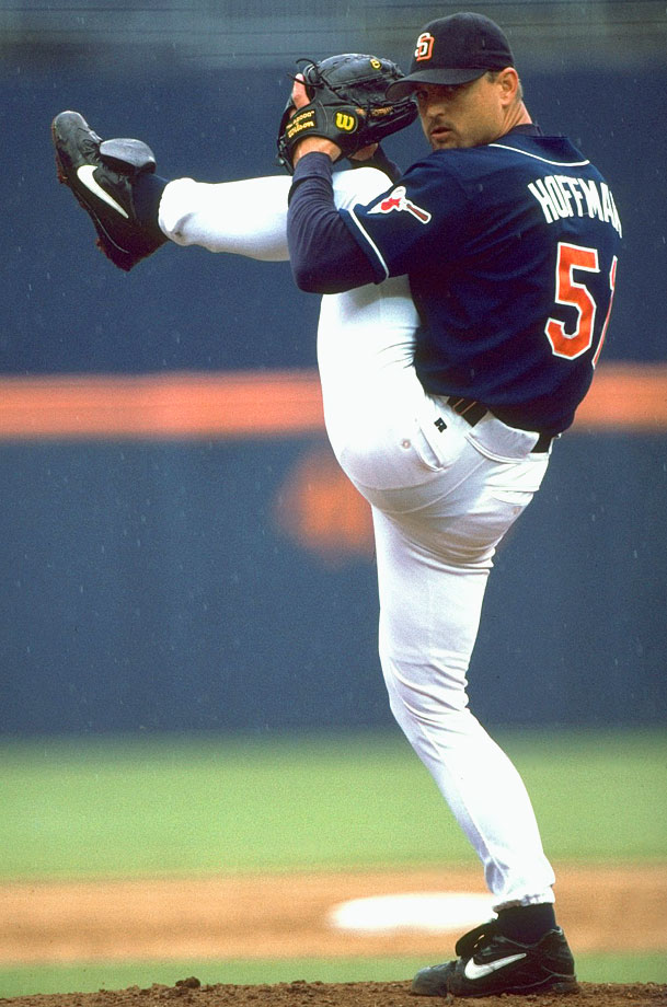 Trevor Hoffman compiled 552 saves over 16 seasons with the Padres, 47 in two years with the Brewers and two in 1993 with the Marlins. He shattered the previous record of 478 held by Lee Smith, making him the first player to reach the 500- and 600-save milestones. The seven-time All-Star had a career ERA of 2.87.