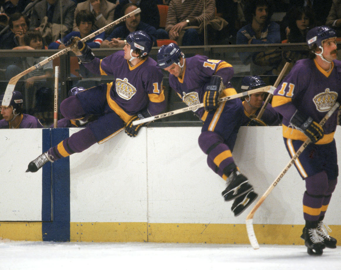 This regal line was formed in January 1979 when center Dionne was teamed with second-year right winger Taylor and left winger Simmer, who went on to become one of league's most prolific units. In 1979-80, the line produced 146 goals and 328 points and played in the NHL All-Star Game at the Montreal Forum.