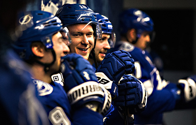 The Triplets: Ondrej Palat, Tyler Johnson and Nikita Kucherov