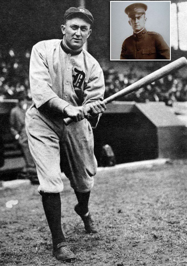Cobb served in the Army Chemical Corps in France in 1918. Other baseball players in that division included Christy Mathewson and George Sisler. After being honorably discharged, Cobb played for 10 more seasons, before being inducted into the Hall of Fame in 1936.
