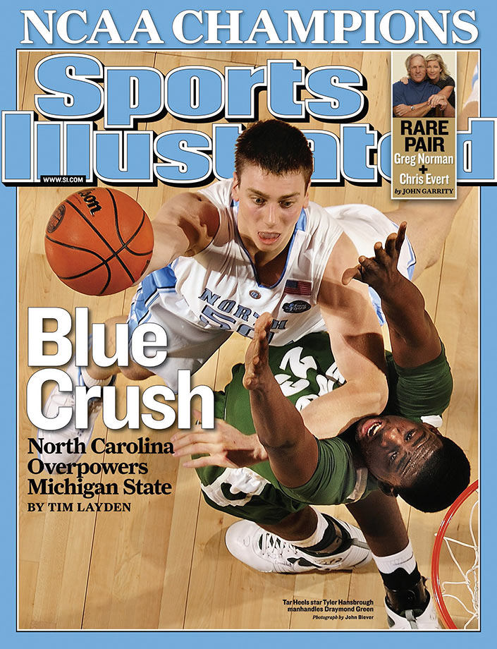 "Hansbrough, who played so hard he earned the nickname ""Psycho T,"" was the first player to be named first-team All-ACC four straight years. He remains the all-time leading scorer in the ACC, all-time leading rebounder at North Carolina, and the first player in ACC history to lead his team in scoring and rebounding for four straight seasons. Hansbrough twice turned down a chance to be an NBA first-round draft pick to return to Chapel Hill, and his loyalty paid off when he led the Tar Heels to the 2009 national championship after reaching the Final Four the year before. He averaged 18.5 points and 8.5 rebounds in the NCAA tournament during his career, and he had 18 points and seven rebounds in the national championship game as North Carolina defeated Michigan State, 89-72."
