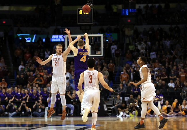 Most of us have dreamed of sinking a game-winning buzzer-beater, but only a select few have achieved that goal. Paul Jesperson of 11th-seeded Northern Iowa turned the dream into a reality as he banked in a half-court shot at the buzzer to beat sixth-seeded Texas and advance to the Round of 32. Some called Jesperson's heave, his fourth three-pointer of the night, the best game-winning shot of all time.