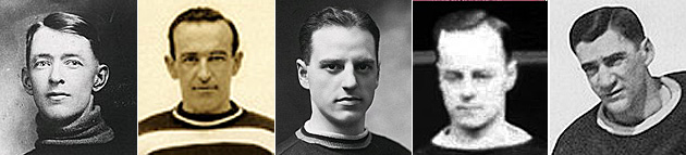 Georges Vezina, Georges Boucher, Aurele Joliat, Rene Joliat, Sylvio Mantha