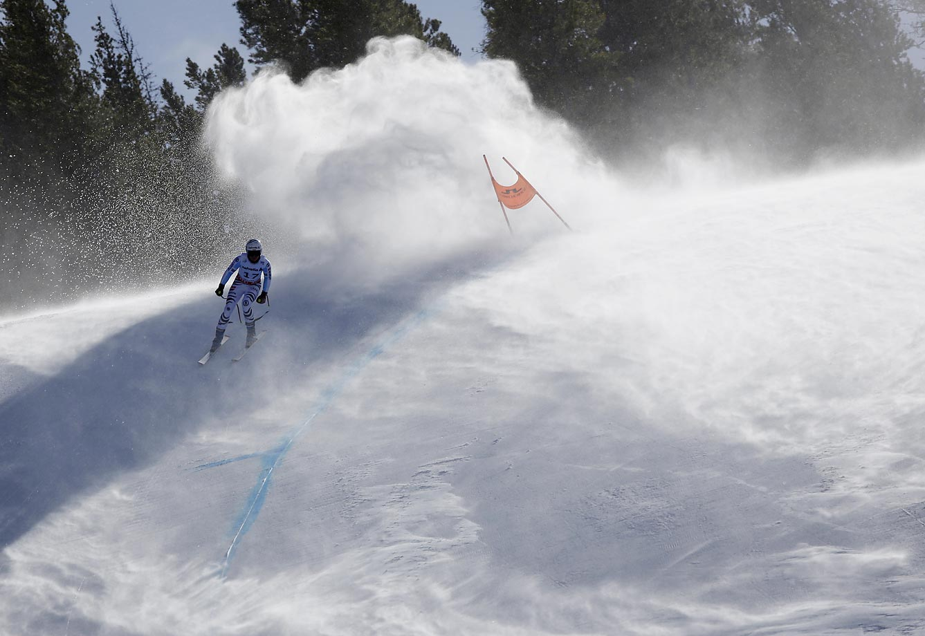 Viktoria Rebensburg of Germany during a practice run for the World Cup Championship downhill in Beaver Creek.
