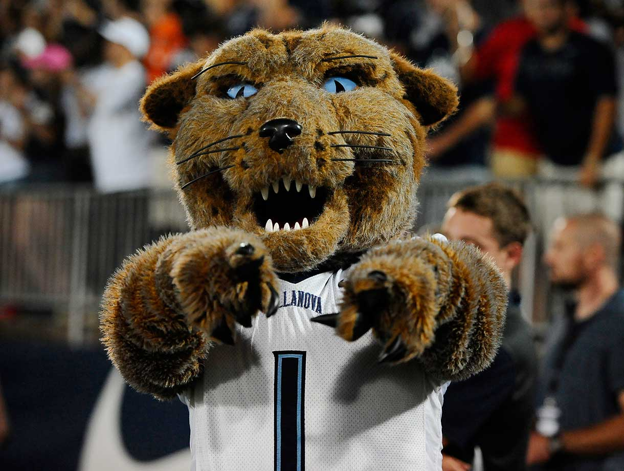 No. 8: Villanova is represented by Will D. Cat, a clever name for one of the most common mascots in college athletics. With sharp fangs and intense eyes, this cat is not one to mess with. (Text credit: Andrew Wittrey/SI.com)