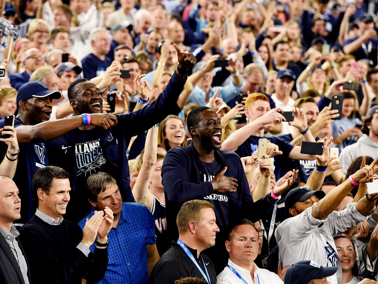 The Villanova fans who made the trip to Houston celebrate a long-awaited national title.