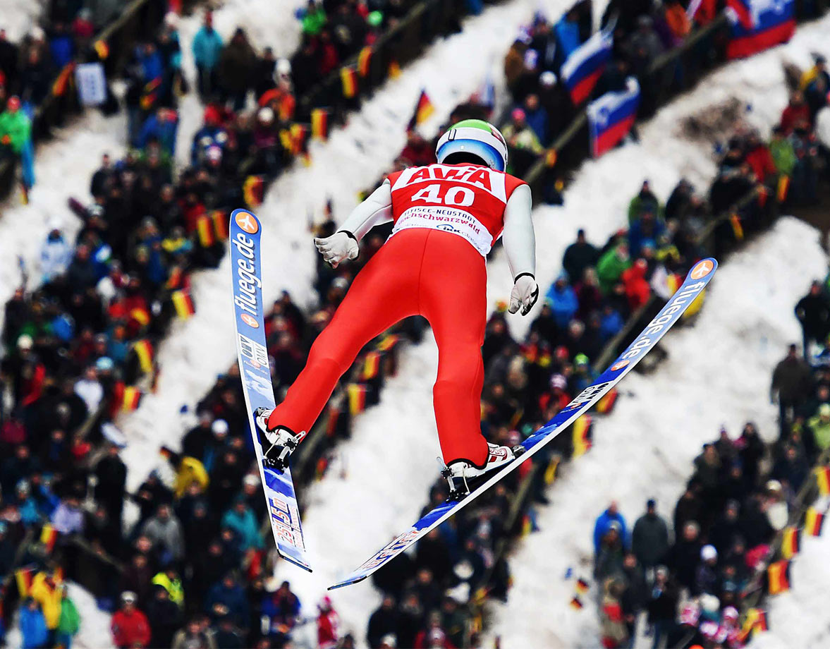 Norway's Anders Fannemel takes a leap of faith at the FIS Ski Jumping World Cup event in Titisee-Neustadt, Germany.